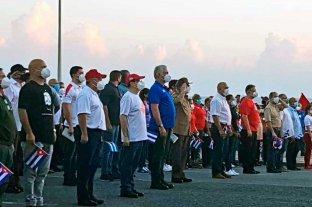 Con Raúl Castro presente, el régimen cubano hizo un acto público en La Habana