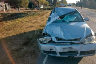 Murió un oficial de policía tras choque en la Ruta 1
