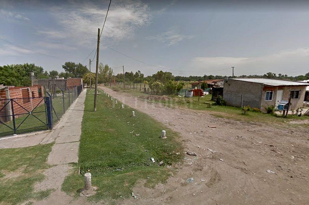 Sector del barrio en Las Catonas, partido bonarense de Moreno, lugar en el que se produjo el femicidio. Crédito: Captura digital - Google Maps Streetview