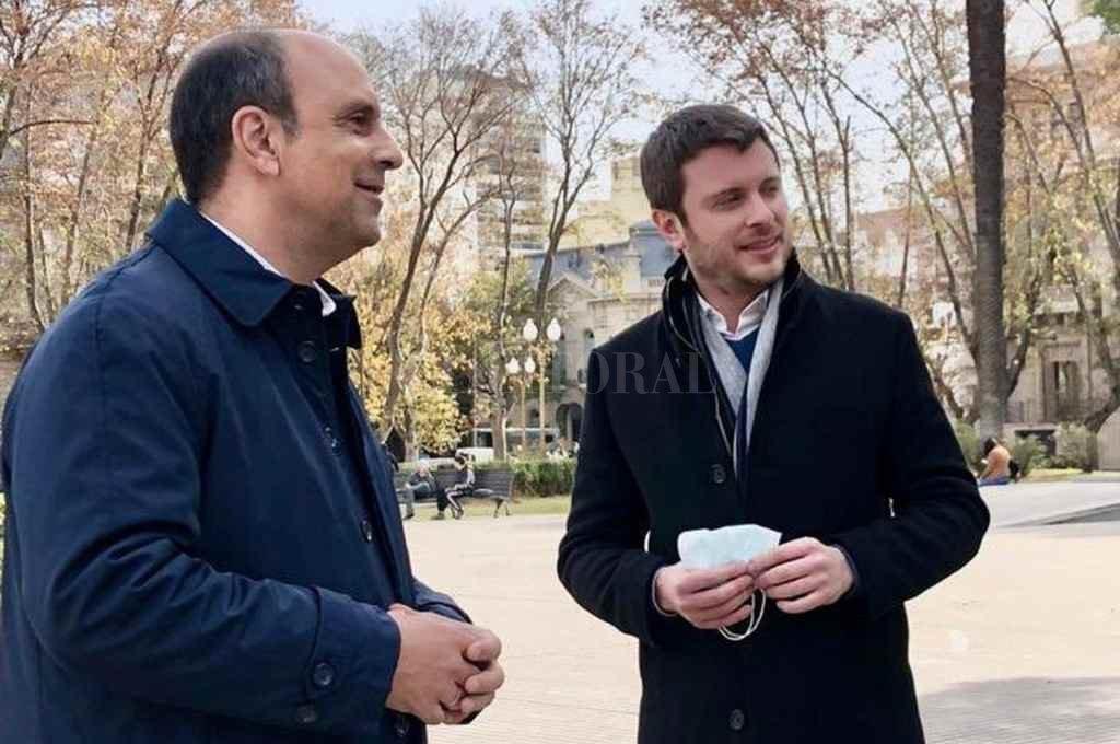 Corral y  López Molina vienen realizando encuentros y visitas juntos desde hace muchos meses y estarán en el mismo espacio político en Juntos por el Cambio.    Crédito: El Litoral