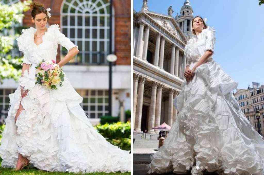 La modelo Jemima Hambro fue la encargada de lucir el particular vestido por las calles de Londres, Crédito: Imagen ilustrativa