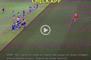 Video: el audio del VAR de la polémica jugada entre Boca y Atlético Mineiro