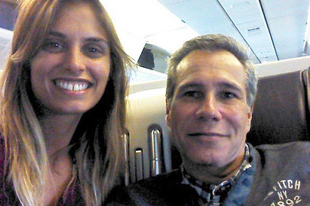 Florencia Cocucci y Alberto Nisman. Crédito: Gentileza