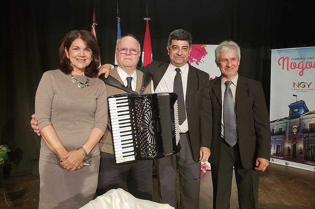 Silvina Cepeda, Guillermo Codino, Jorge Méndez y Claudio Robaglio, integrantes activos de Angirú.