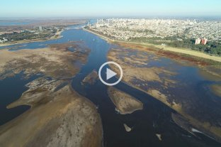 Video: fascinantes imágenes aéreas de la bajante en la costanera santafesina desde el drone de El Litoral