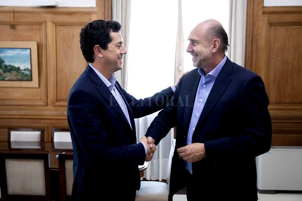 Wado de Pedro y Omar Perotti. Crédito: Archivo El Litoral