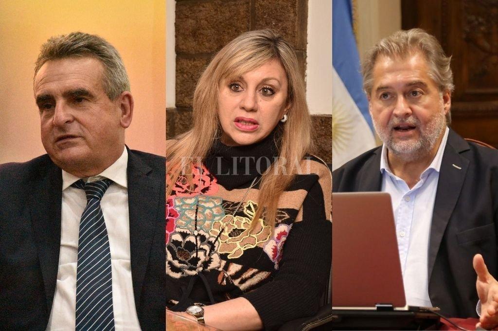 Agustín Rossi, María de los Ángeles Sacnun, Roberto Mirabella. Crédito: Guillermo Di Salvatore