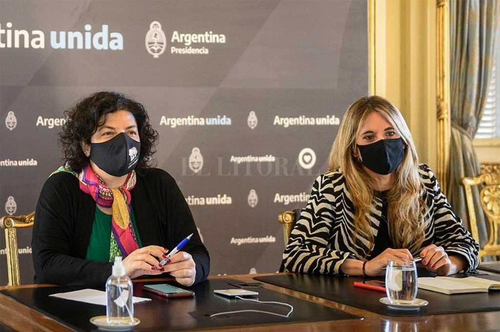 Nicolini junto a Vizzotti. Crédito: Noticias Argentinas