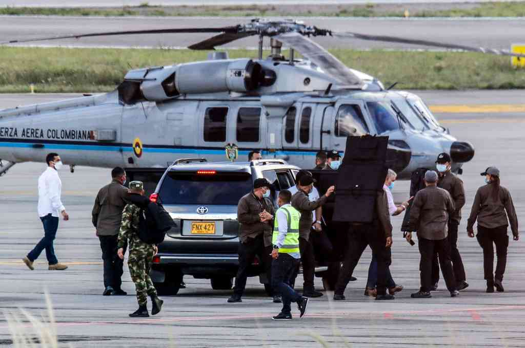 El 25 de junio seis disparos impactaron el helicóptero presidencial -en el que viajaban Duque, dos de sus ministros y varios funcionarios regionales- cuando se aproximaba a Cúcuta, capital de Norte de Santander y fronteriza con Venezuela. Crédito: Imagen ilustrativa