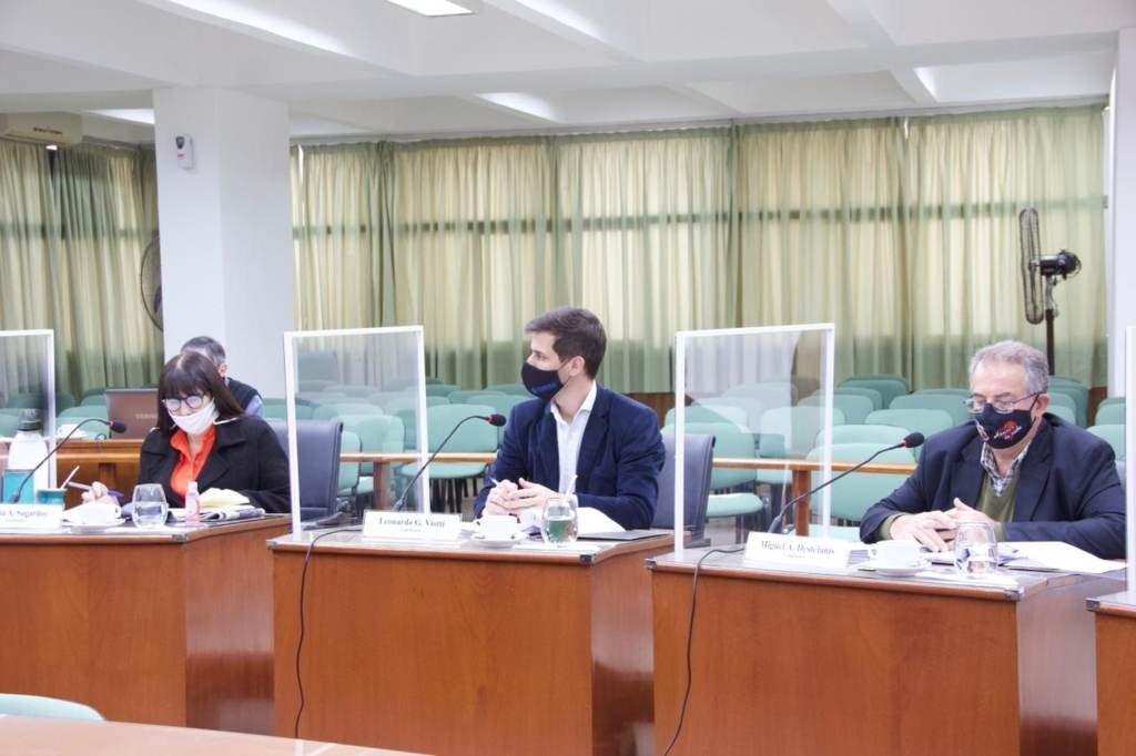 En sesión. Los concejales trataron cuatro proyectos que fueron enviados por el Ejecutivo. Foto:Gentileza: prensa Concejo Deliberante de Rafaela.