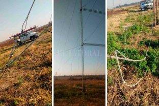 Otra vez provocaron daños en torre de alta tensión en el Salado