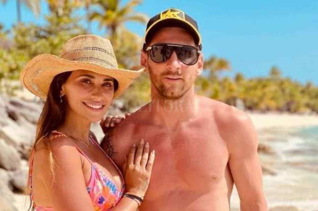 El capital de la Selección Argentina sigue de vacaciones en República Dominicana con su familia Crédito: Gentileza @antonelaroccuzzo