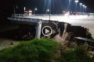 Video: se desmoronó parte de la barranca del Parque España en Rosario -