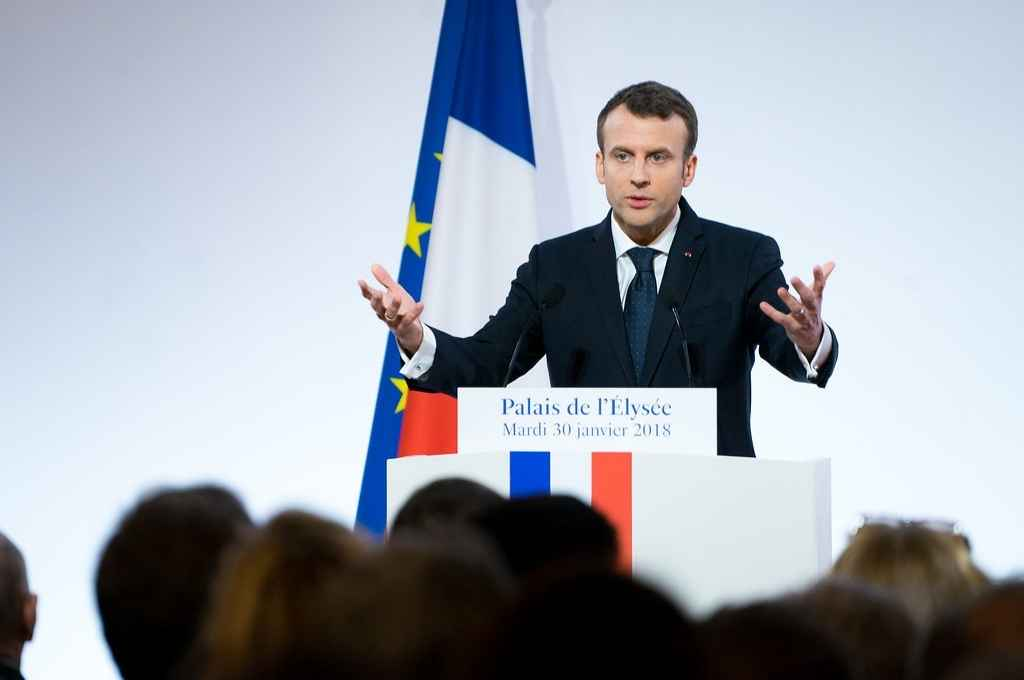 Emmanuel Macron, presidente francés. Impulsa la aplicación del certificado sanitario en su país.   Crédito: Gentileza