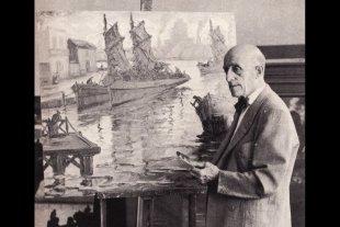 El pintor de la Boca y sus exposiciones en la ciudad