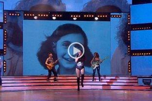 Polémica en Showmatch por la inclusión de una foto de Ana Frank