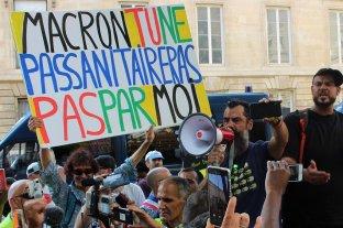 Protestas en Francia contra el certificado sanitario