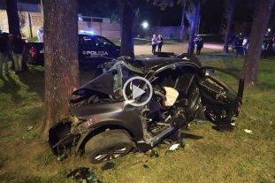 Tres muertos al estrellarse un auto contra un pino en el norte de la provincia de Santa Fe -