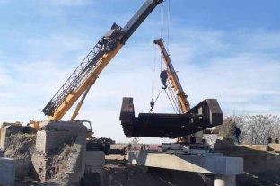 Reemplazaron el puente ferroviario en jurisdicción de Sunchales