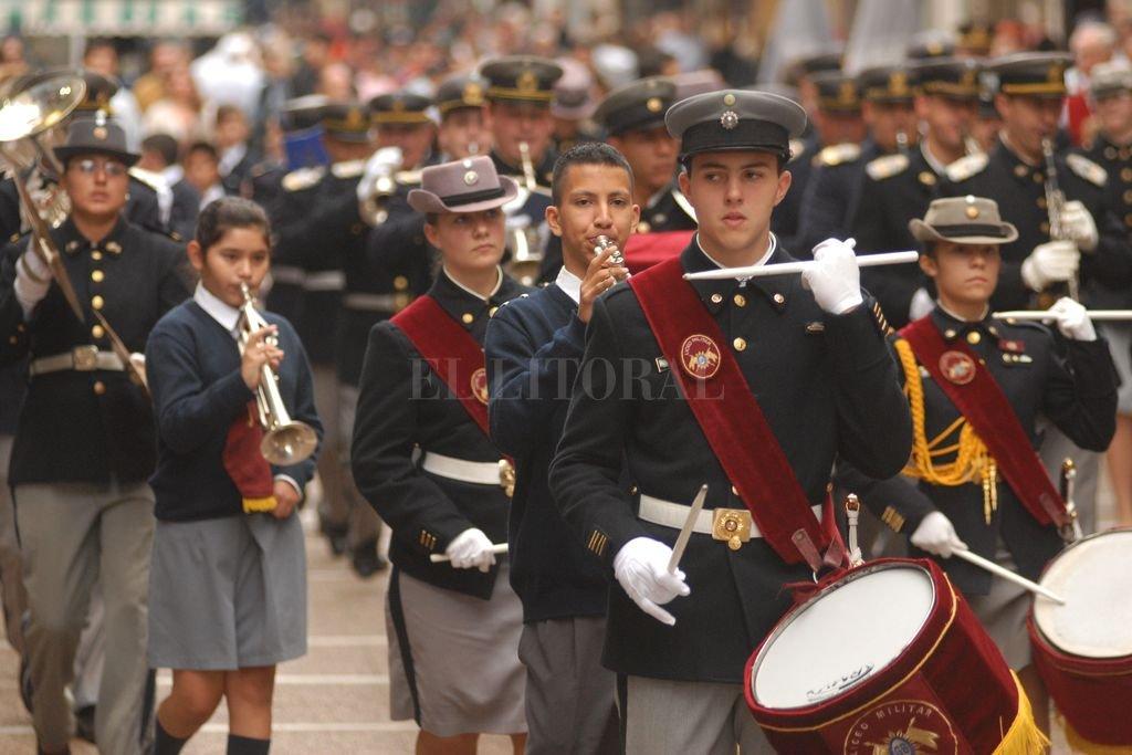 La Banda de Música del Liceo Militar dará el marco adecuado a éste emotivo acontecimiento de hermandad sudamericana. Crédito: Mauricio Garín