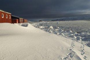 Antártida Argentina: se congeló la superficie del agua del mar frente a la Base Carlini