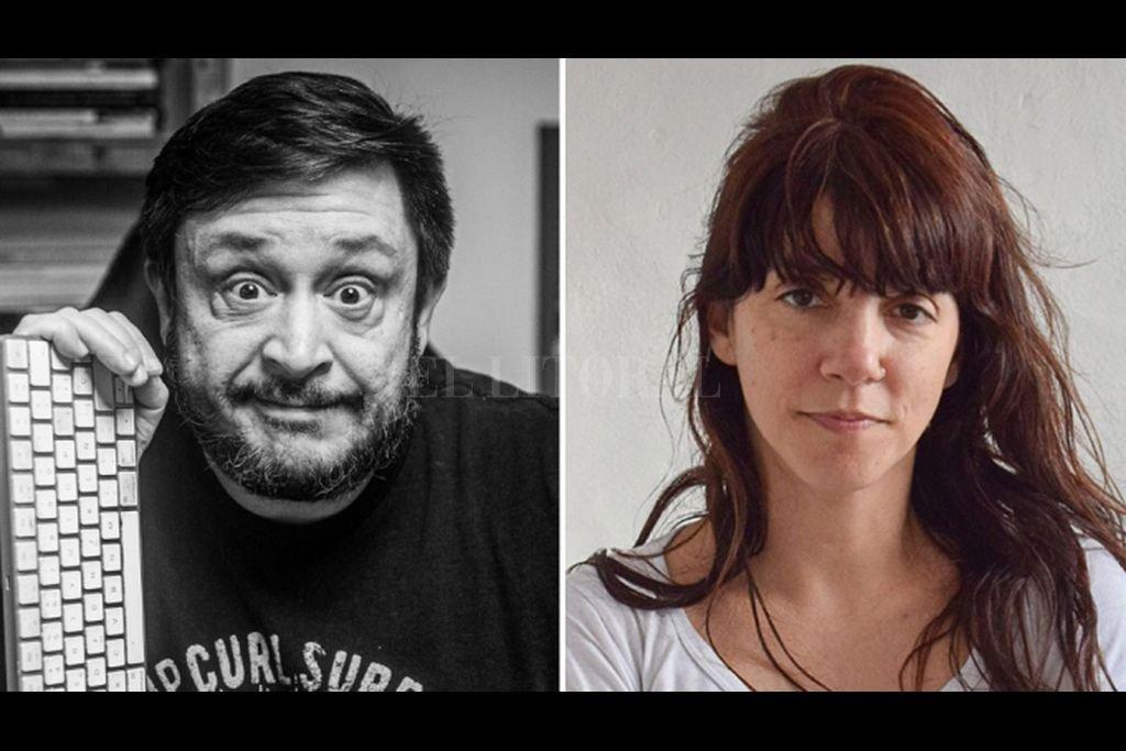 """Casciari, cabeza de la producción, y Ana María Blaya, elegida como directora por su ópera prima, """"Las buenas intenciones"""". Crédito: Gentileza Orsai Cine"""