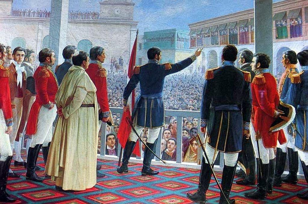 Proclamación de la Independencia del Perú según el óleo del pintor peruano Juan Lepiani, realizado en Roma en 1904. Crédito: Gentileza