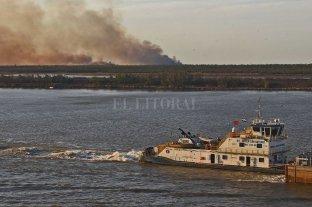 Contienen dos focos de incendio en las islas de Delta frente a Villa Constitución