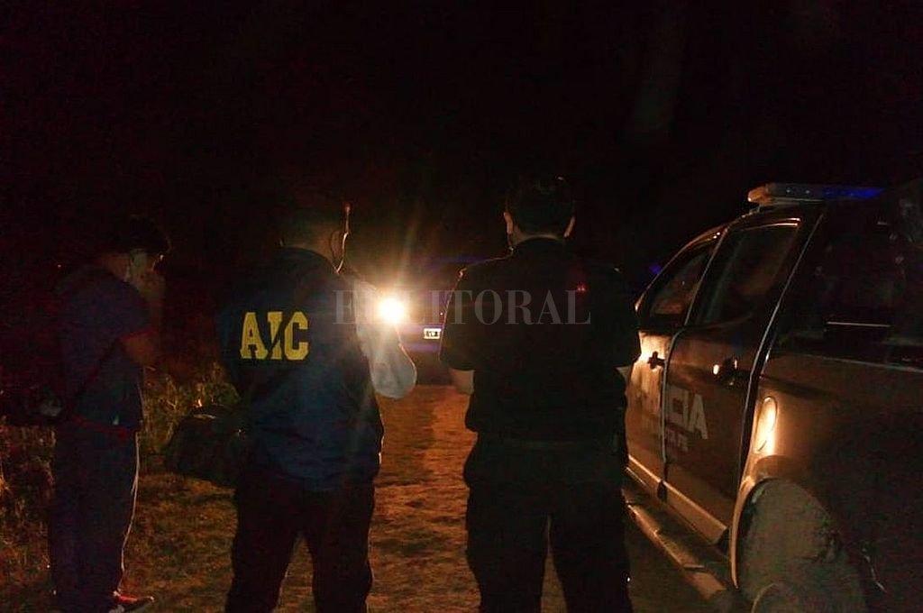 El cadáver fue hallado en zona rural en el límite entre Colonia San José u la ciudad de Santo Tomé. Crédito: Archivo El Litoral