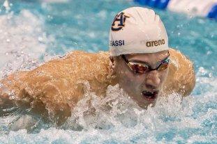 El santafesino Grassi ganó su serie de 100 metros mariposa pero no clasificó a semifinales