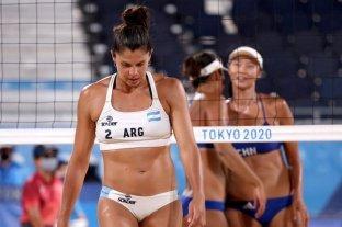 Beach volley: la dupla argentina Gallay-Pereyra se despidió con una derrota ante la pareja china