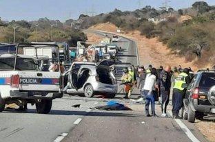 Accidente fatal: seis personas murieron en un choque frontal cerca del peaje Cabeza de Buey