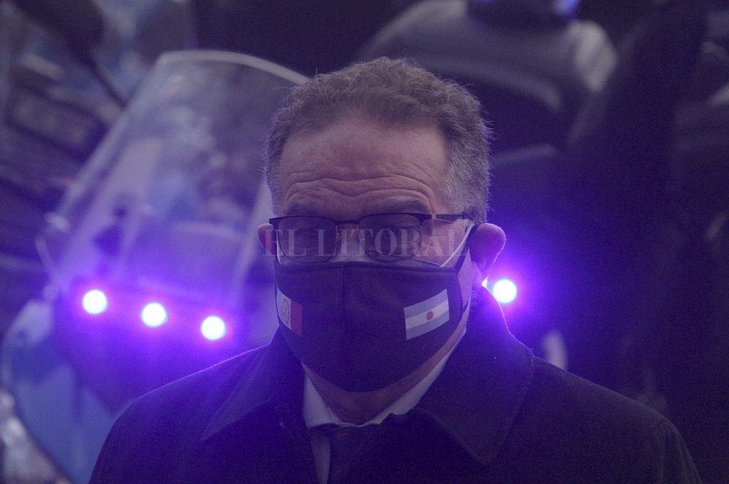 Jorge Lagna, ministro de Seguridad de la provincia. Crédito: Mauricio Garín