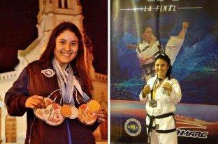 La taekwondista Karen Olmedo busca apoyo para poder participar del Mundial