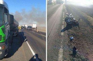 Rufino: un motociclista muere tras ser embestido por un camión