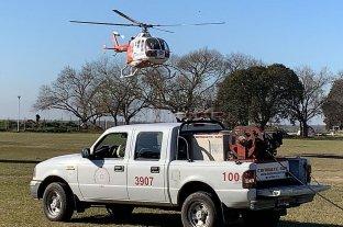 Este sábado harán un simulacro aéreo de traslado de un paciente con Covid