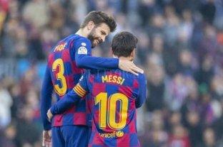 """Piqué lo apuró: """"Estamos esperando que Messi firme la renovación"""""""