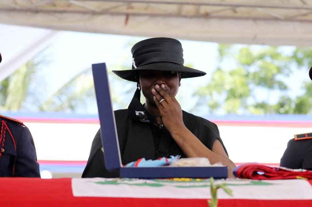 Martine Etthiene, esposa del asesinado presidente haitiano Jovenel Moise.   Crédito: Gentileza