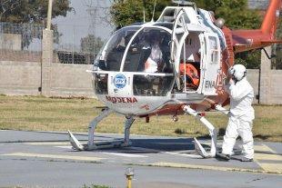 Se realizó con éxito en Santa Fe el simulacro del rescate en helicóptero de un enfermo con Covid-19