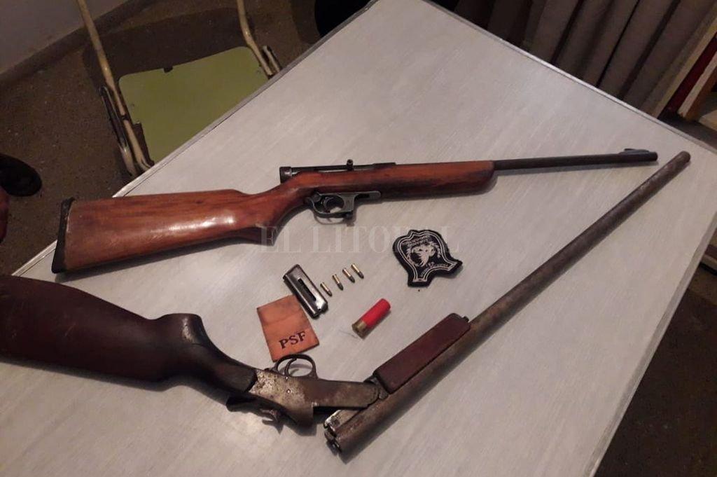 Las armas fueron halladas en allanamientos realizados por la policía dentro del departamento San Justo. Crédito: Archivo