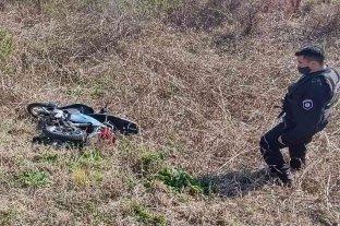 Un ladrón con muletas robó una moto en San Genaro