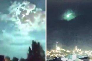 Video: un meteorito ilumino de verde el cielo en Turquía