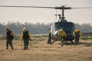 Realizaron operativos aéreos y náuticos por nuevos incendios en las islas del delta del Paraná