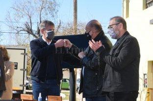 Perotti y Jatón coincidieron en un acto para anunciar obras en Los Hornos