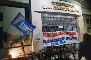 Municipales de San Carlos centro realizan paro por tiempo indeterminado