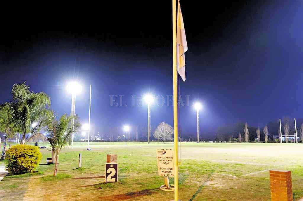 Perspectiva de las dos canchas principales de Querandí Rugby Club, donde este sábado habrá actividad preparatoria. Crédito: Archivo