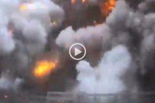 Video: explotó la planta de Siderar en San Nicolás