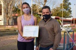 Reconocieron a Luciana Gómez Iriondo por el oro obtenido en el Sudamericano de atletismo