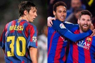 Los números de Lionel Messi con la 30 y junto a Neymar
