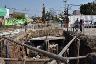 Desagüe Espora: por falta de pagos de Nación, la empresa frenó la obra